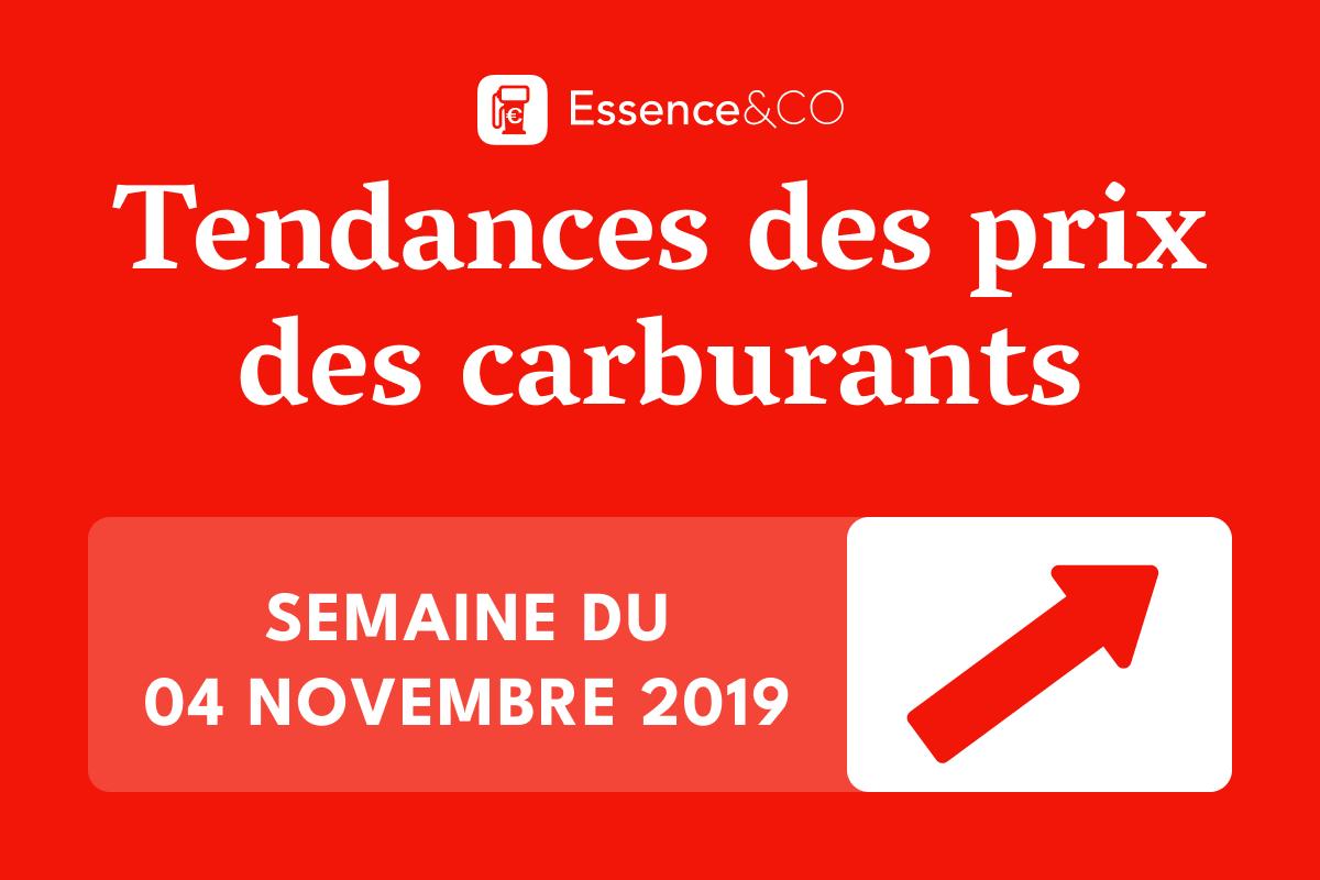 Tendances des prix des carburants semaine du 04 novembre 2019