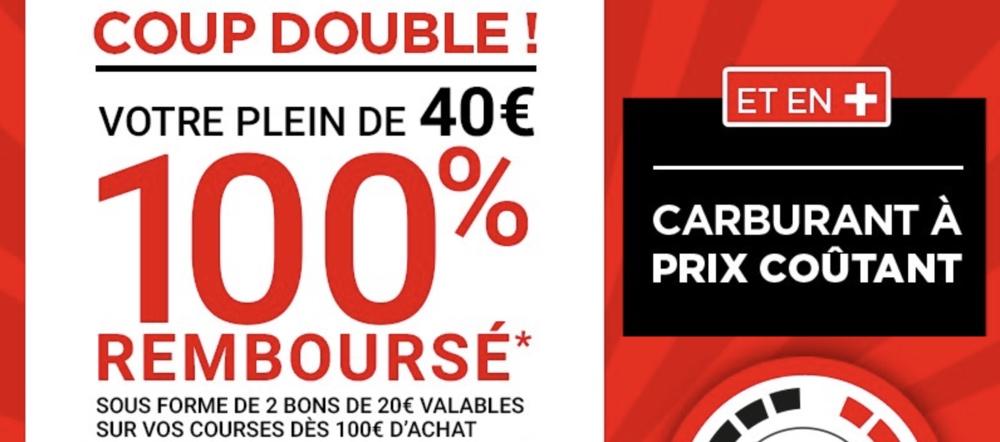 Géant Casino : Carburant prix coûtant + plein remboursé !