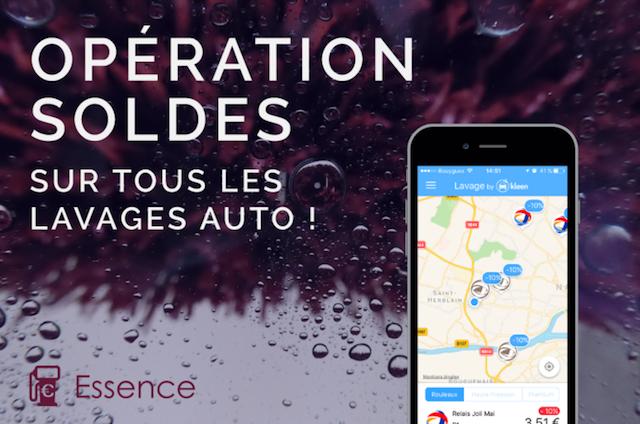 -10% sur vos lavages auto dans l'application Essence