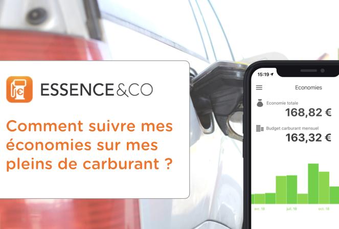 Suivre ses économies de carburants dans Essence&Co